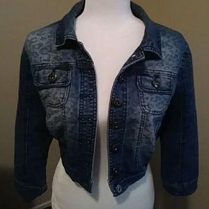 Jackets & Blazers - Jean jacket with leopard print